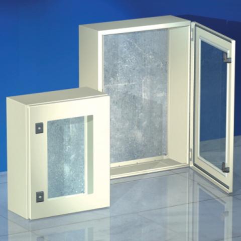 Навесной шкаф CE, с прозрачной дверью, 700 x 500 x 250мм, IP55