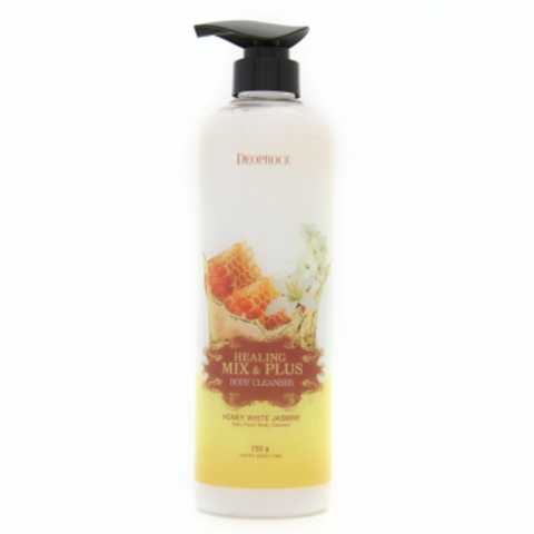 DEOPROCE BODY Гель для душа мед и жасмин  HEALING MIX & PLUS BODY CLEANSER HONEY WHITE JASMINE 750g 750гр