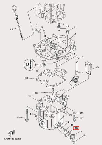 Прокладка для лодочного мотора F9,9 Sea-PRO (24-18)