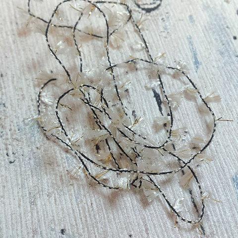 Фасонная пряжа с люрексом AVIA / ART 555 280 светло-бежевый с золотом