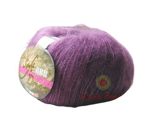 Пряжа BBB Filati Soft Dream 0028 фиолетовый