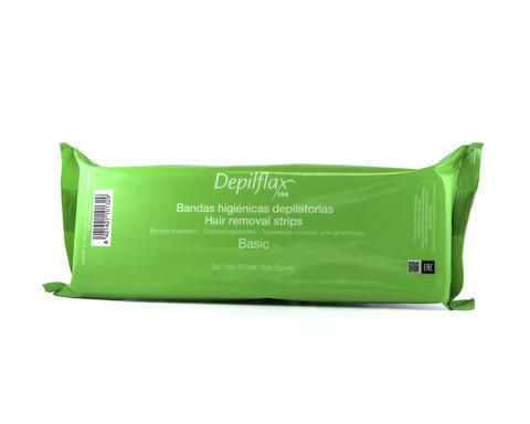 Depilflax, Полоски для депиляции белые, 100 шт/уп (7,5 x 23 см)