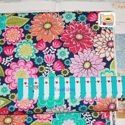 Ткань для пэчворка 20928 (яркие цветы) 45х55см