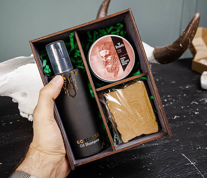 Мужской набор из шампуня, мыла для тела и средства для укладки фото 05