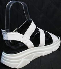 Удобные сандали женские без каблука Evromoda 3078-107 Sport White