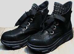 Ботинки в виде кроссовок женские демисезонные Rifellini Rovigo 525 Black.