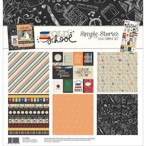 КИТ-набор бумаги 30х30 Simple Stories Simple Sets Collection Kit - Old School