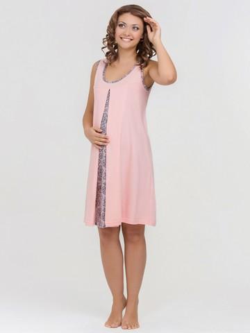 Vivamama. Сорочка для беременных и кормящих Nataly, персик