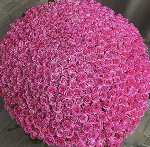1001 роза в корзине #16222