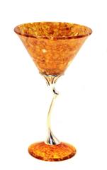 """Янтарный бокал для мартини, серия """"Летнее настроение"""""""