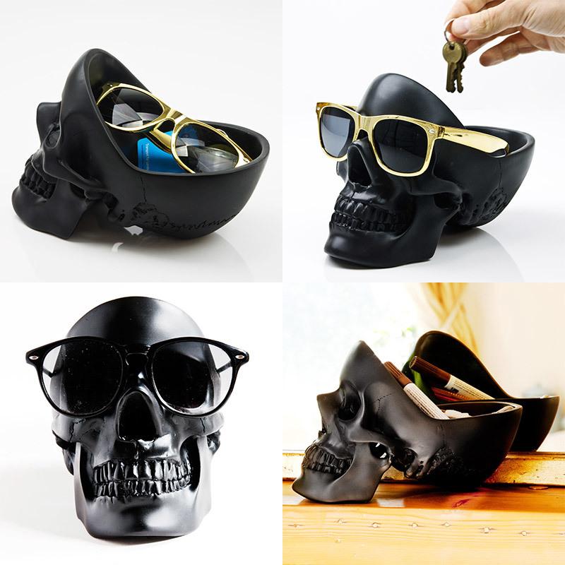 Органайзер для мелочей Skull череп черный Suck UK SK TIDYSKULL2   Купить в Москве, СПб и с доставкой по всей России   Интернет магазин www.Kitchen-Devices.ru