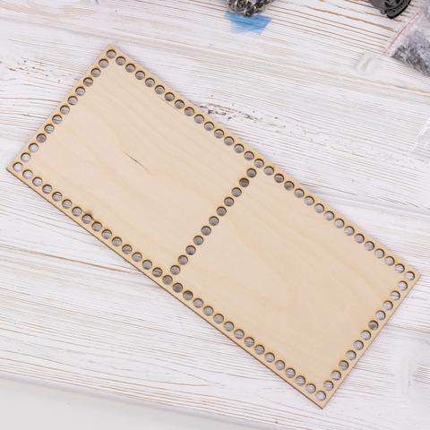 Прямоугольное деревянное дно  с перегородкой 35см*15см*3мм