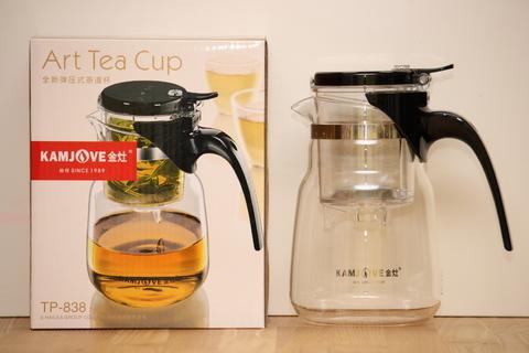 Стеклянный заварочный чайник Гунфу с кнопкой (Типот) 750мл