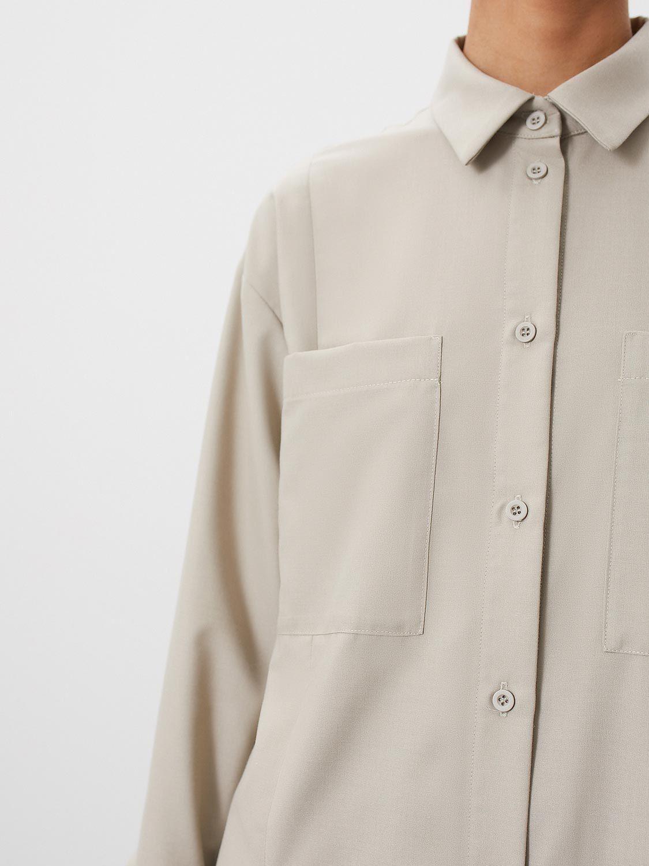 Блуза Jess удлинённая с разрезами, Песочный