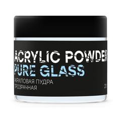 In'Garden, Акриловая пудра, 20гр., прозрачная, PURE GLASS POWDER
