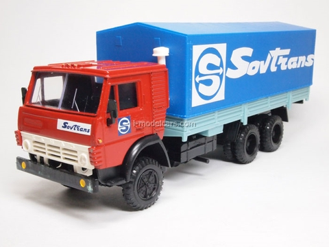 KAMAZ-53212 with awning Sovtrans red-blue Elecon 1:43