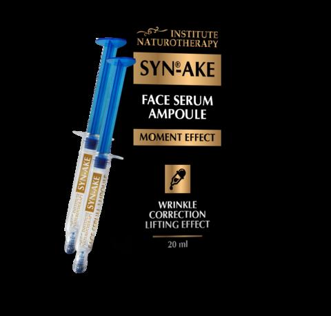 Сыворотка для лица антивозрастная  для коррекции морщин Syn-Ake, 20 мл (косметические шприцы 2шт. по 10 мл.) НИИ Натуротерапии