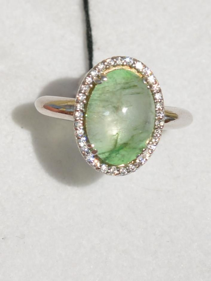 Клэр-кабошон (кольцо  из серебра)