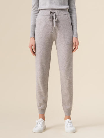 Женские брюки светло-серого цвета из 100% кашемира - фото 4
