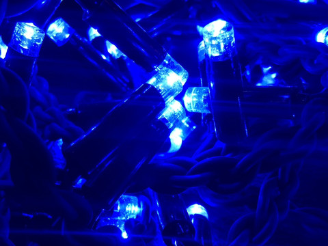 Дощ-гірлянда Вуличний 120 LED BX 3 м. синій