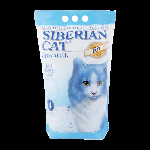 Сибирская кошка Элита Наполнитель для туалета кошек силикагель, синие гранулы