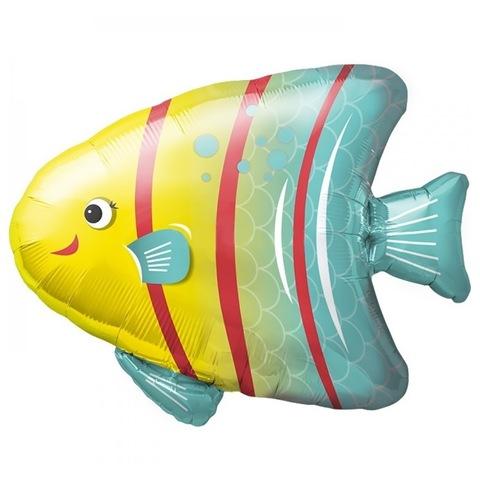 Шар фигура Яркая рыбка, 79 см