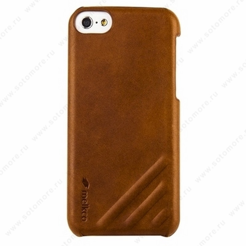 Накладка Melkco кожаная для iPhone 5C Leather Snap Cover Craft Limited Edition Prime Dotta (Brown Wax Leather)