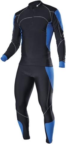 Раздельный комбинезон Noname XC Racing suit, черный-синий