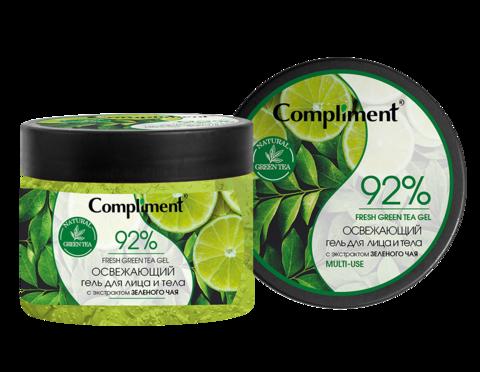 Compliment Освежающий гель для лица и тела с экстрактом зеленого чая