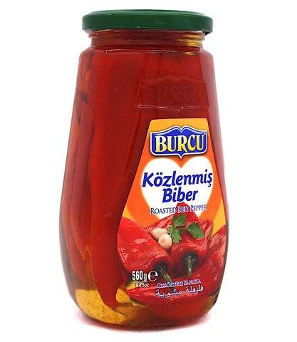 Перец красный жареный, Burcu, 560 г