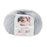 Пряжа Alize Baby Wool светло-серый 52