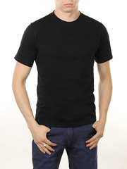 3366-6 футболка мужская, черная