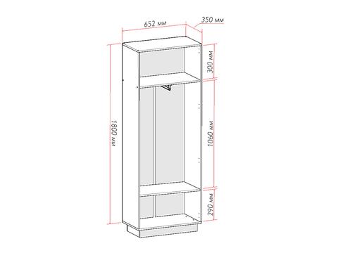 Шкаф двухстворчатый Глейс ШК-202 платяной Браво Мебель дуб серый, белый глянец