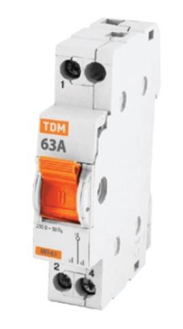 Модульный переключатель трехпозиционный МП-63 1P 40А TDM