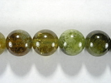 Бусина из граната зеленого, шар гладкий 10 мм