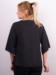 Марина. Весенняя блуза size plus. Черный.