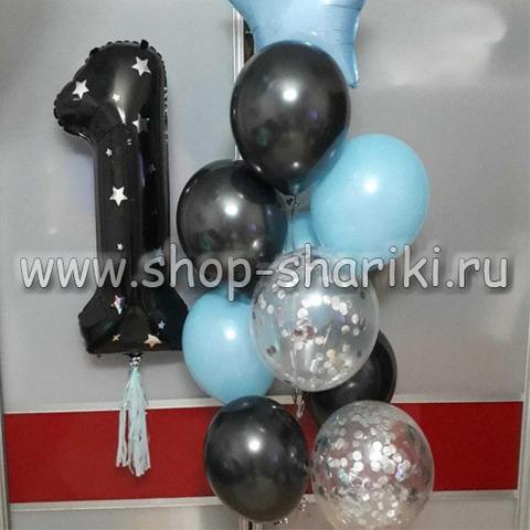 Фольгированные шары цифры с декором