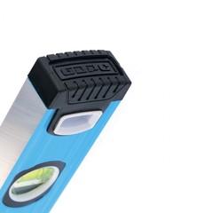 Уровень алюминиевый, 1000 мм, профиль 1,6 мм, фрезерованный, ударопрочные заглушки, 3 глазка Барс