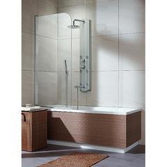 Шторка на ванну  Radaway Eos PN  70x152 левая, крепится слева, профиль хром, стекло прозрачное 205101-101L
