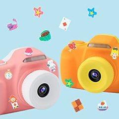 Детский фотоаппарат для девочек и мальчиков Жирафик со стикерами