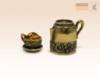 наперсток Кофейник с чашкой с янтарем с магнитом