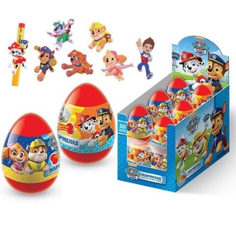 ЩЕНЯЧИЙ ПАТРУЛЬ 2 Мармелад в пластиковом яйце с игрушкой-пентопы 1кор*6бл*12шт, 10г.