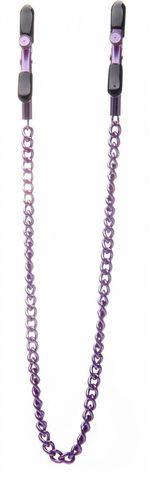 Зажимы на соски с фиолетовой цепочкой Ouch!