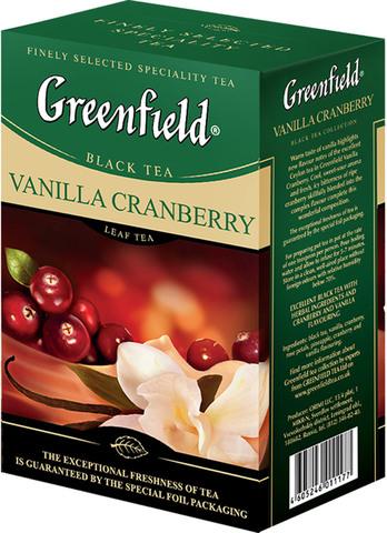 Чай черный Greenfield Vanilla Cranberry, 100 г