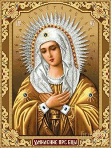 Алмазная Мозаика 30x40 Икона Божией Матери Умиление (арт. X203)
