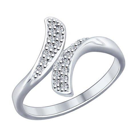 94012146 -Кольцо из серебра с фианитами