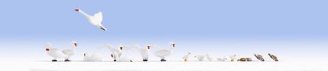 Гуси и Лебеди - 16 фигурок, (H0)