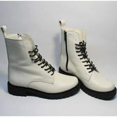 Ботинки женские кожа зимние Ari Andano 740 Milk Black.