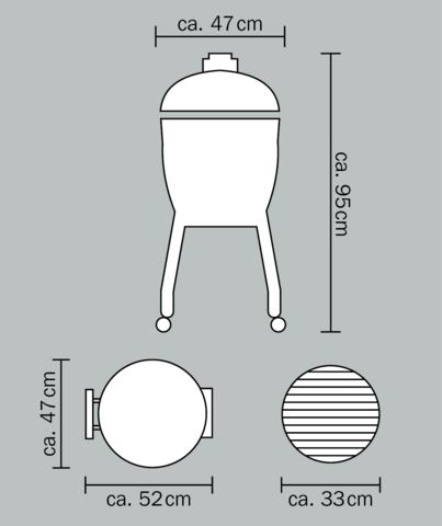 Керамический гриль Monolith Junior S малый на колёсиках (красный)