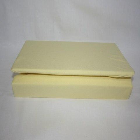 Простынь на резинке трикотажная 160x200 (желтая)
